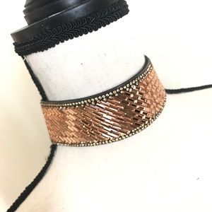 Jewelry - BAGUETTE CRYSTAL TOPAZ CHOKER NECKLACE
