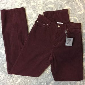 AG Adriano Goldschmied Pants - NWT Alexa Chung x AG Red Corduroy Straight Pants