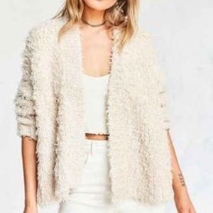 H&M Sweaters - H&M Shaggy Faux Lamb Fur Front Open Cardigan