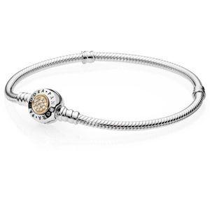 Pandora Jewelry - Pandora 14kt signature cz charm bracelet