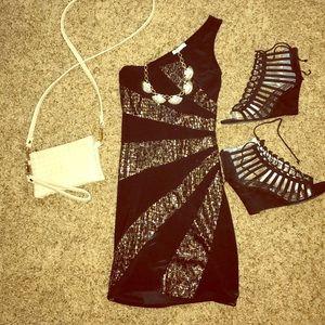 American Vintage Dresses & Skirts - One shoulder strap black mini dress