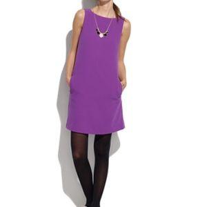 Madewell purple shift dress - xs