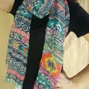 Tolani Accessories - Tolani IKAT Aztec Summer Viscose/Cotton Scarf $99