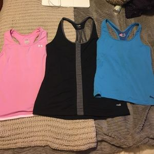 Under Armour Tops - Set of 3 workout tanks