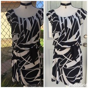 Maggie London black/white dress