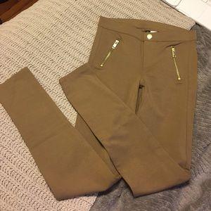 Tan skinny pants