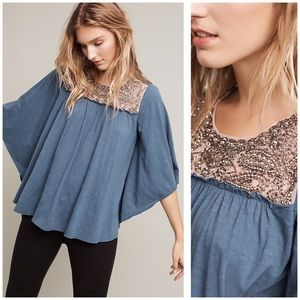 MED Anthro Josephine Embellished Top by Maeve