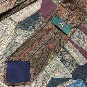 Club Room Accessories - Stunning Men's Italian Club Room Paisley Tie Silk