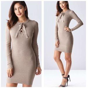 Dresses & Skirts - Lace Up Sweater Knit Lace Up Dress