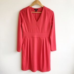 Lands' End Dresses & Skirts - Lands End V-Neck Long Sleeve Red Dress Size Small