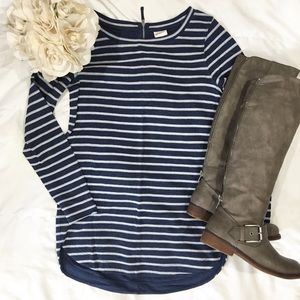 Striped Navy Blue Tunic