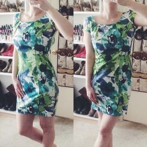 BCX Dresses & Skirts - Blue & Green Floral Dress
