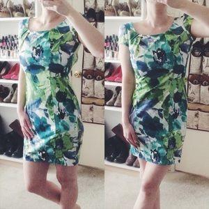 BCX Dresses & Skirts - Blue & Green Floral Dress (PRICE FIRM)