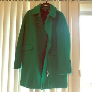 Jcrew zippered coat in stadium cloth NWT