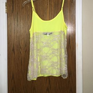 Francesca's Collections Tops - Yellow backless lace tank top