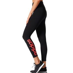 Adidas Pants - BNWT Adidas Flashy Logo Essentials Linear Leggings