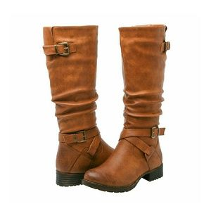 independent Shoes - NEW Tan riding boots with buckles
