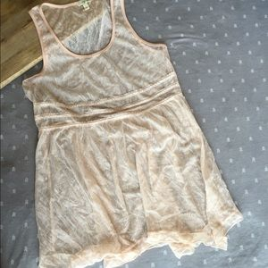 Lily White Tops - Lace Babydoll tank