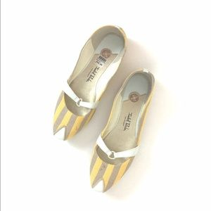 Isabel Toledo Shoes - Isabel Toledo spring yellow and grey loafers