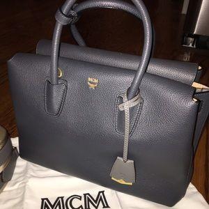 MCM Handbags - New! MCM Milla Satchel, Medium - Gray