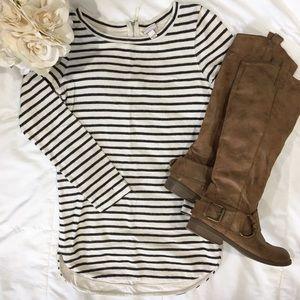 Striped Off-White Tunic