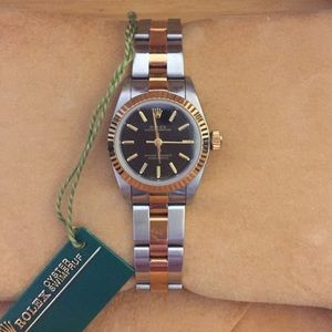 Rolex Accessories - Lady's two tone Rolex Oyster Perpetual watch