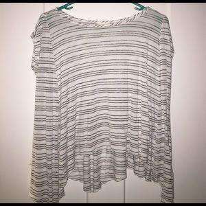 Gray & White Striped Shirt