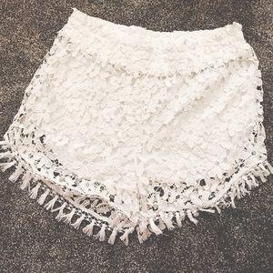 Charlotte Russe Plus Size Crochet Lace Shorts