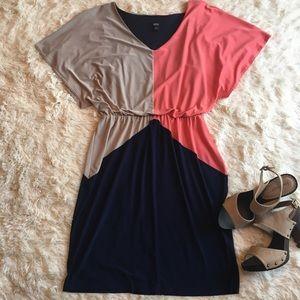 MSK color block dress