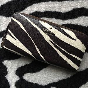 kate spade Handbags - RARE Kate Spade Cobble Hill Zebra Lacey Wallet