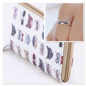 Handbags - Hippie Cat Wallet Free Cat ring