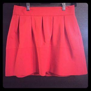 Zara Red/Orange flirty skirt. Size 6/M-L