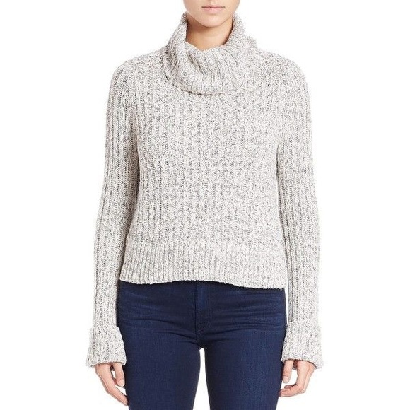 55% off Free People Sweaters - Gray knit free people cowl neck ...