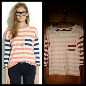 Madewell Colorblock Striped Tee