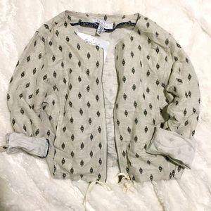 Kenneth Cole Reaction Jackets & Blazers - Kenneth Cole Reaction Linen Diamond Crop Jacket