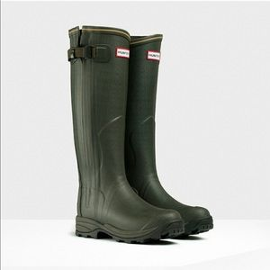 Hunter Boots Shoes - NWOT Hunter Balmoral Lady Leather Boots, 5