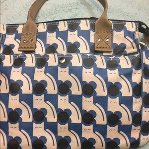 Bag poppy  Cat print zip