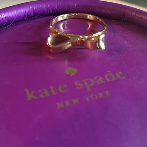 Gold Kate spade bow ring