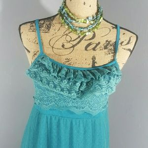 Altar'd State Lace Overlay Sleeveless Dress