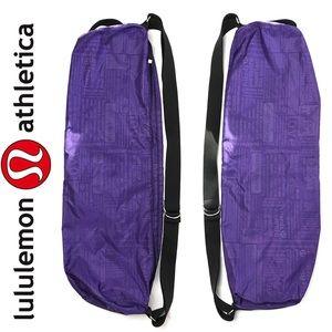 Lululemon Purple Nylon Yoga Mat Bag