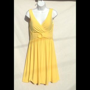 Boston Proper Dresses & Skirts - Boston Proper Yellow Lap Front Dress