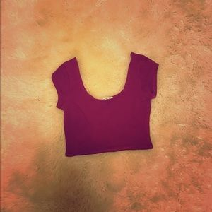 Nordstrom Tops - Burgundy/Deep Red Crop Top