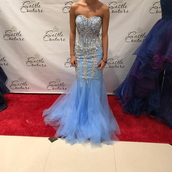 d5b73535759 Jovani prom dress  5908- sky blue silver -500.00