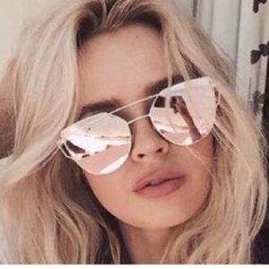 Saks Fifth Avenue Accessories - Rose Gold & Gold Hardware Cat Trendy Sunnies