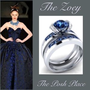 Jewelry - The Zoey 💎 Two-Piece Blue Sapphire Ring Set 💎