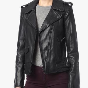 ❤️7 For All Mankind leather motto jacket.