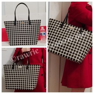 SALE New Kate Spade checkered large travel tote