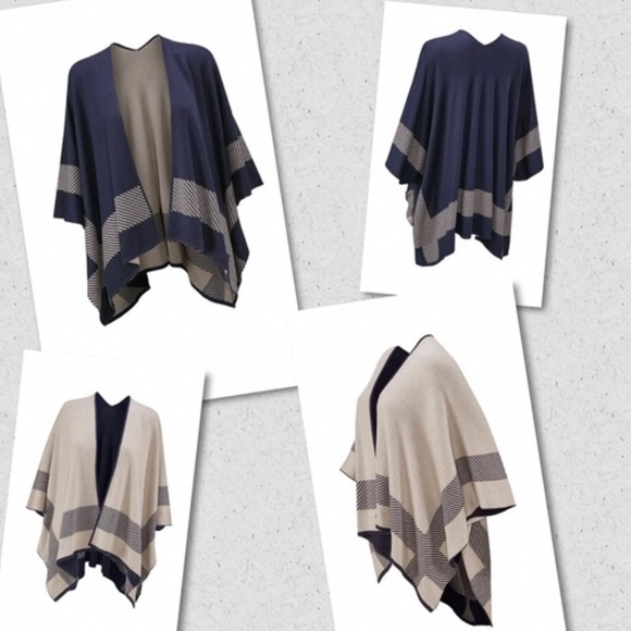 60% off CAbi Sweaters - CAbi Reversible Poncho from Ann's closet ...
