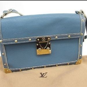 Louis Vuitton Blue Suhali L'Aimable Bag