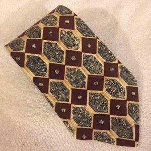 Hardy Amies Other - Hardy Amies Brown, Tan & Blue Check Tie